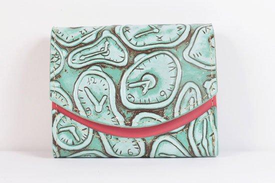 ミニ財布  世界でひとつだけシリーズ  小さいふ「ペケーニョ ダリ 時計」#1