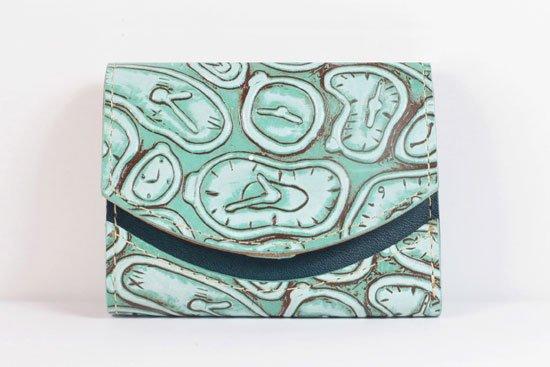 ミニ財布  世界でひとつだけシリーズ  小さいふ「ペケーニョ ダリ 時計」#2