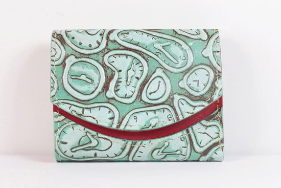 ミニ財布  世界でひとつだけシリーズ  小さいふ「ペケーニョ ダリ 時計」#7