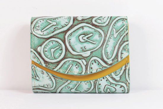 ミニ財布  世界でひとつだけシリーズ  小さいふ「ペケーニョ ダリ 時計」#8
