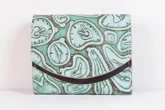 ミニ財布  世界でひとつだけシリーズ  小さいふ「ペケーニョ ダリ 時計」#9