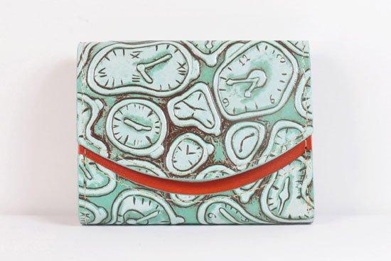 ミニ財布  世界でひとつだけシリーズ  小さいふ「ペケーニョ ダリ 時計」#10