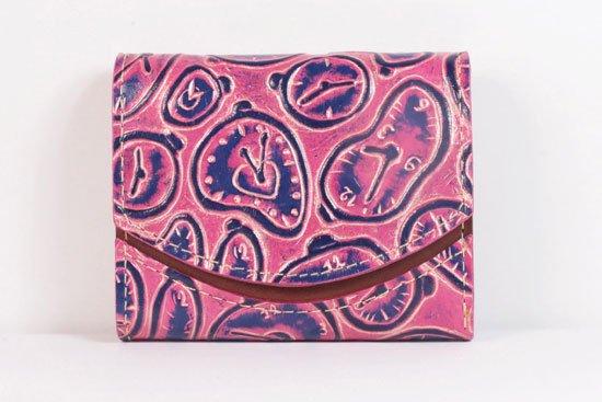 ミニ財布  世界でひとつだけシリーズ  小さいふ「ペケーニョ ダリ 時計」#26