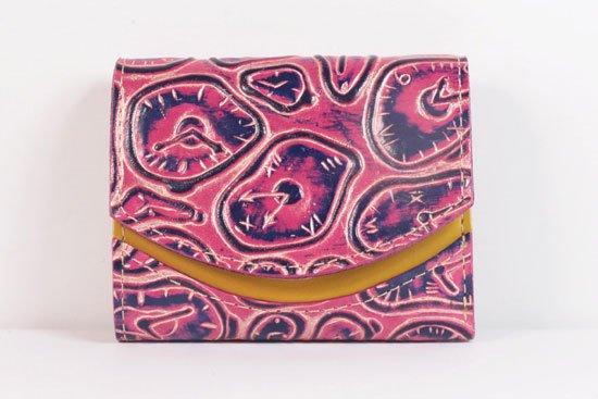 ミニ財布  世界でひとつだけシリーズ  小さいふ「ペケーニョ ダリ 時計」#28