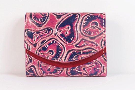 ミニ財布  世界でひとつだけシリーズ  小さいふ「ペケーニョ ダリ 時計」#29