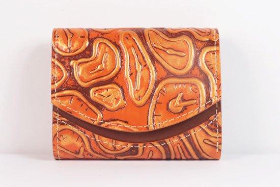 ミニ財布  世界でひとつだけシリーズ  小さいふ「ペケーニョ ダリ 時計」#32