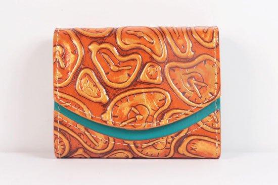 ミニ財布  世界でひとつだけシリーズ  小さいふ「ペケーニョ ダリ 時計」#34
