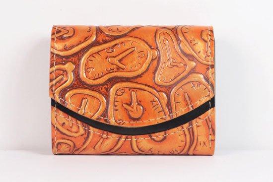 ミニ財布  世界でひとつだけシリーズ  小さいふ「ペケーニョ ダリ 時計」#35