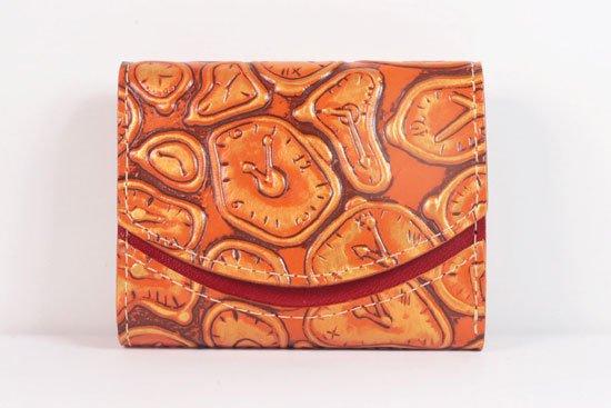 ミニ財布  世界でひとつだけシリーズ  小さいふ「ペケーニョ ダリ 時計」#36