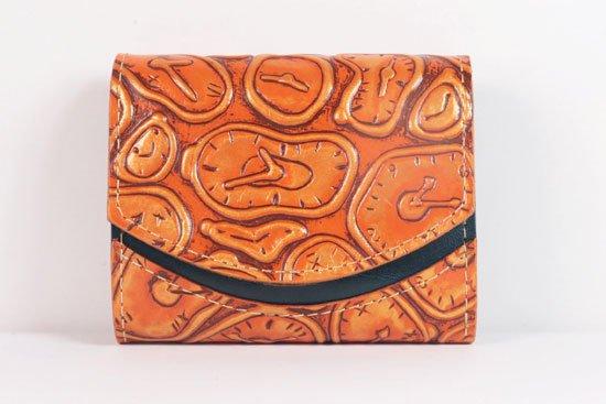 ミニ財布  世界でひとつだけシリーズ  小さいふ「ペケーニョ ダリ 時計」#38