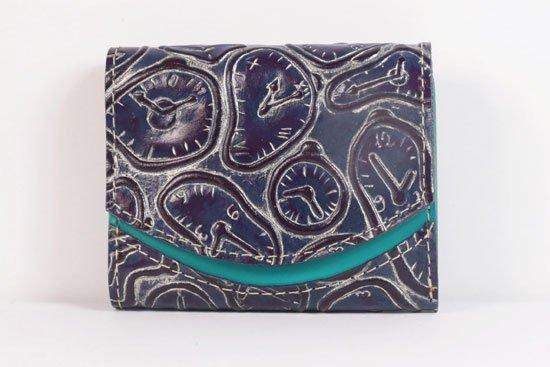 ミニ財布  世界でひとつだけシリーズ  小さいふ「ペケーニョ ダリ 時計」#52