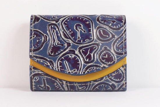 ミニ財布  世界でひとつだけシリーズ  小さいふ「ペケーニョ ダリ 時計」#53