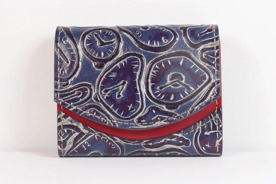 ミニ財布  世界でひとつだけシリーズ  小さいふ「ペケーニョ ダリ 時計」#55