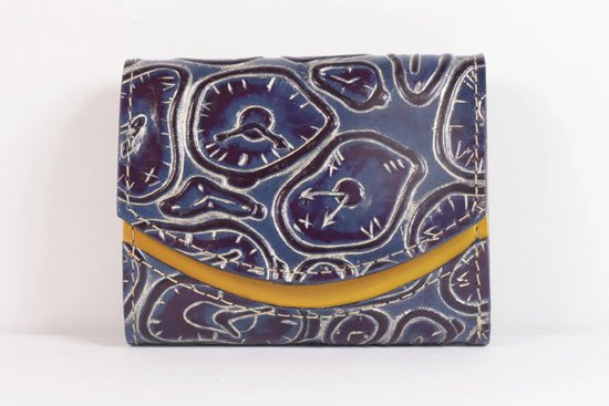 ミニ財布  世界でひとつだけシリーズ  小さいふ「ペケーニョ ダリ 時計」#56