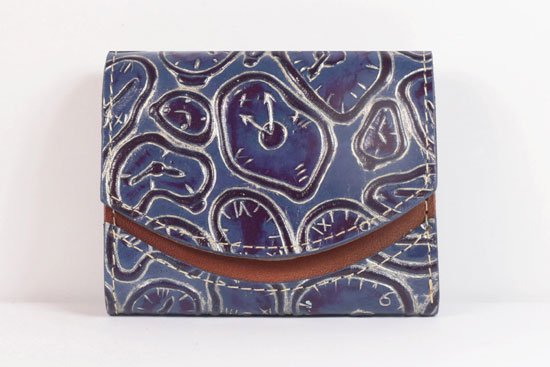ミニ財布  世界でひとつだけシリーズ  小さいふ「ペケーニョ ダリ 時計」#58