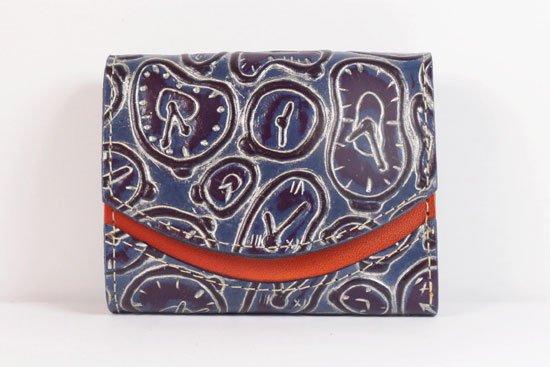 ミニ財布  世界でひとつだけシリーズ  小さいふ「ペケーニョ ダリ 時計」#59