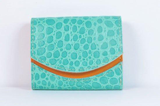 ミニ財布  今日の小さいふシリーズ「ペケーニョ ブルーラグーン< B >21年6月7日」