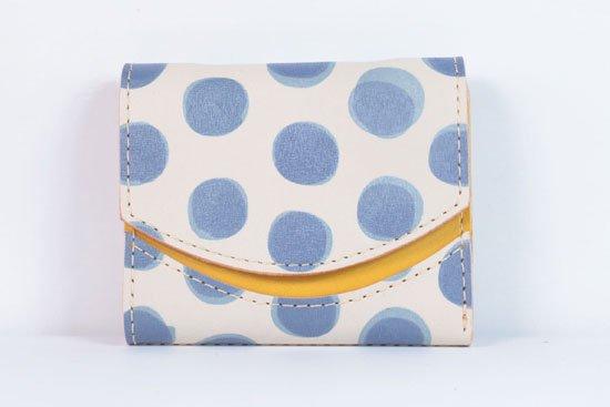 ミニ財布  今日の小さいふシリーズ「ペケーニョ ブルードット< A >21年6月10日」