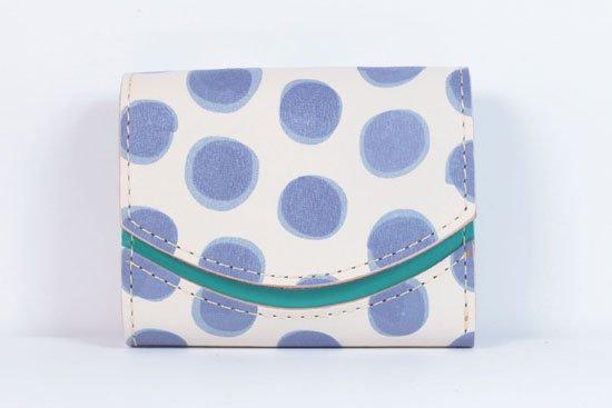 ミニ財布  今日の小さいふシリーズ「ペケーニョ ブルードット< B >21年6月10日」