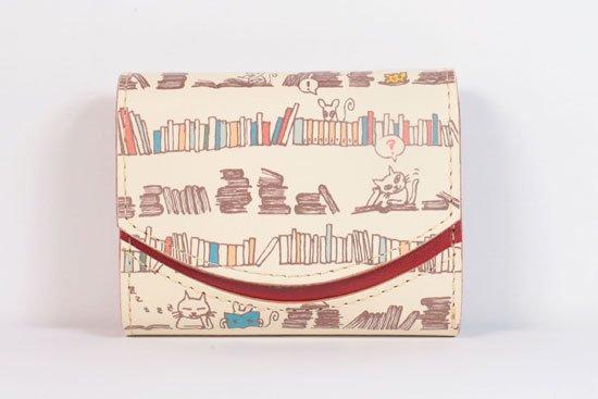 ミニ財布  今日の小さいふシリーズ「ペケーニョ 図書室< B >21年6月1日」