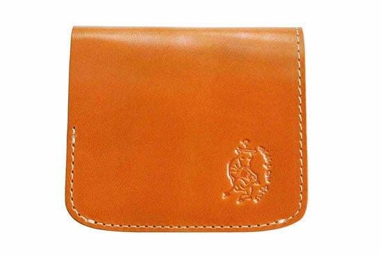 【左利き LEFTY】小さい財布 小さいふ。栃木レザー定番BASICシリーズ「コンチャ キャメル」
