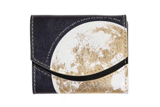 【左利き LEFTY】小さい財布 小さいふ。宇宙シリーズ「ペケーニョ 月面着陸  Moon landing 2020」ゴールド×ネイビー