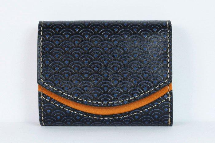 ミニ財布  世界でひとつだけシリーズ  小さいふ「ペケーニョ 青海波」#2