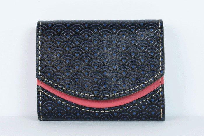 ミニ財布  世界でひとつだけシリーズ  小さいふ「ペケーニョ 青海波」#3