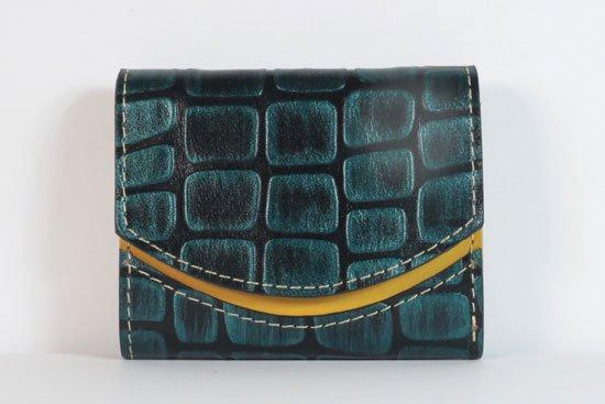 ミニ財布  今日の小さいふシリーズ「ペケーニョ 雨の車窓< A >21年8月25日」