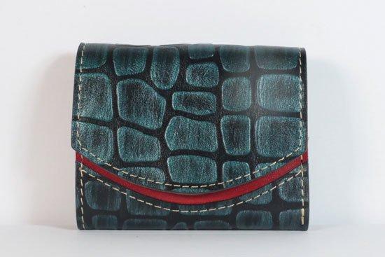 ミニ財布  今日の小さいふシリーズ「ペケーニョ 雨の車窓< B >21年8月25日」