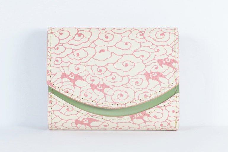 ミニ財布  世界でひとつだけシリーズ「ペケーニョ」和柄  瑞雲と燕 #2