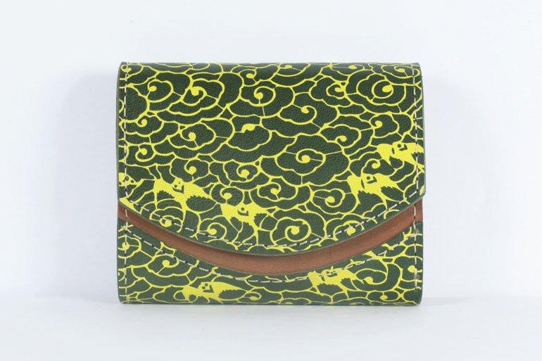 ミニ財布  世界でひとつだけシリーズ「ペケーニョ」和柄  瑞雲と燕 #9
