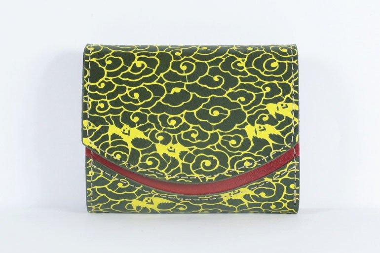 ミニ財布  世界でひとつだけシリーズ「ペケーニョ」和柄  瑞雲と燕 #10