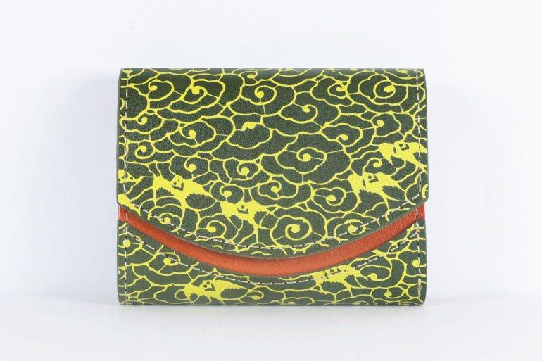 ミニ財布  世界でひとつだけシリーズ「ペケーニョ」和柄  瑞雲と燕 #11