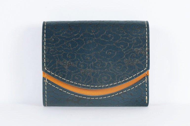 ミニ財布  世界でひとつだけシリーズ「ペケーニョ」和柄  瑞雲と燕 #15