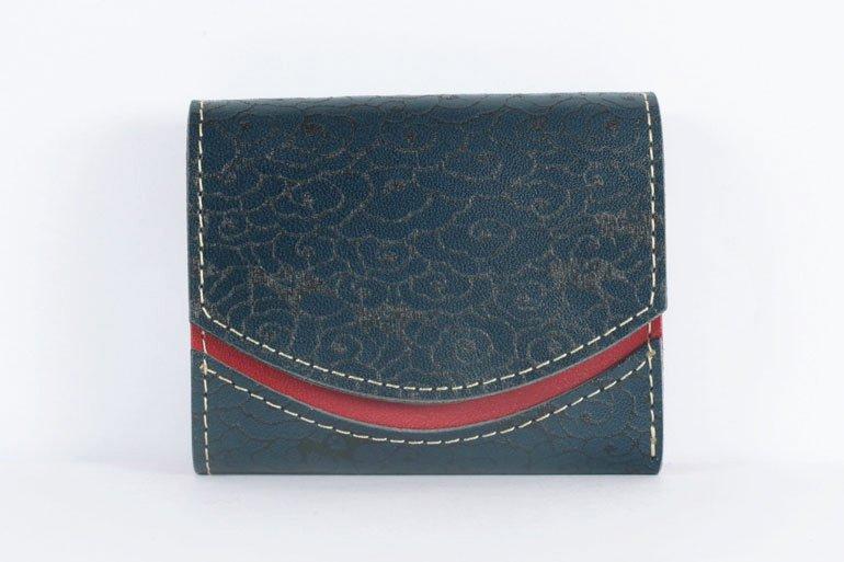ミニ財布  世界でひとつだけシリーズ「ペケーニョ」和柄  瑞雲と燕 #17