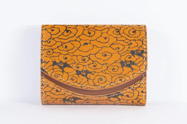 ミニ財布  世界でひとつだけシリーズ「ペケーニョ」和柄  瑞雲と燕 #22