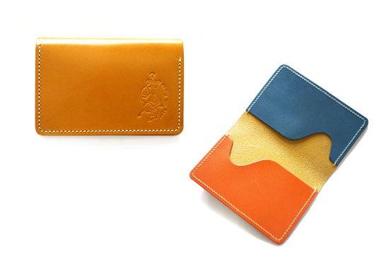 カラーオーダーシリーズ「名刺入れにもなるICカードケース」栃木レザー