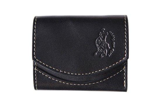 小さい財布  小さいふ。栃木レザー定番シリーズ「ペケーニョ black coffee ブラック」黒