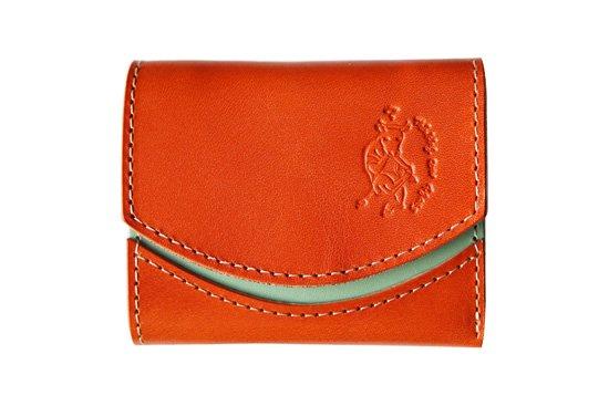 【極小財布・小さい財布】小さいふ。 ペケーニョ Orange オレンジ 日本製 二つ折り クアトロガッツ
