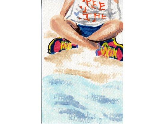 Ree ポストカード 【01】砂浜だけど砂浜だから