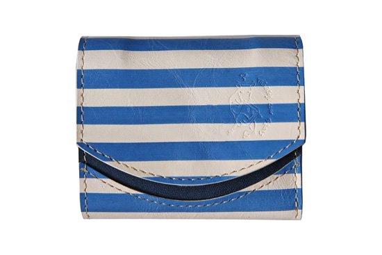 小さい財布  小さいふ。アートシリーズ「ペケーニョ  〜ピカソ青の時代〜」青×白