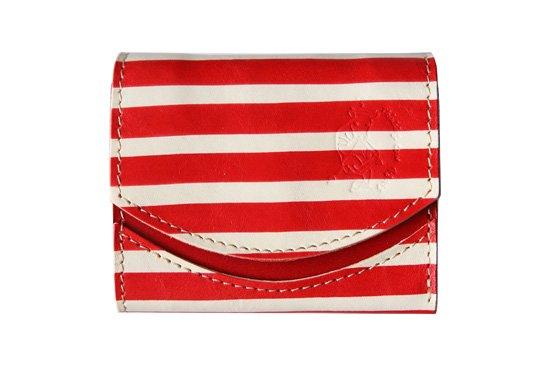 小さい財布  小さいふ。アートシリーズ「ペケーニョ 〜ピカソ バラの時代〜」赤×白