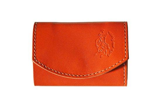 小さい財布  小さいふ。栃木レザー定番シリーズ「ポキート  pure orange オレンジ」オレンジ