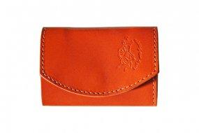 【極小財布・小さい財布】小さいふ。ポキート【 pure orange 】日本製 三つ折り クアトロガッツ