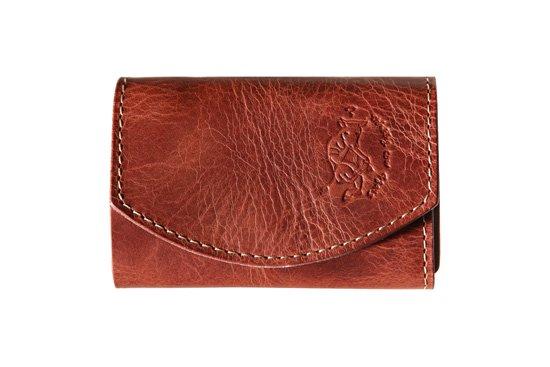 小さい財布  小さいふ。アートシリーズ「ポキート  ボルドーワイン」茶