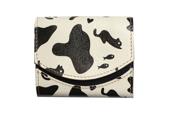 【極小財布・小さい財布】小さいふ。ペケーニョ  ホルスタinネコ【アートシリーズ】クアトロガッツ