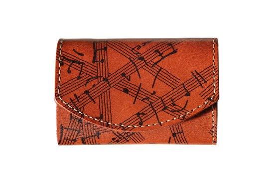小さい財布  小さいふ。アートシリーズ「ポキート  Power Of Music パワーオブミュージック」茶