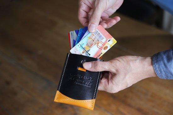 ひっぱるカード入れ「ちょっと賢いカードケース 進化バージョン」 クアトロガッツ  定番カラー