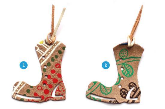 今川咲恵「おえかきさきえ」コラボ 靴のかたちをしたしおり